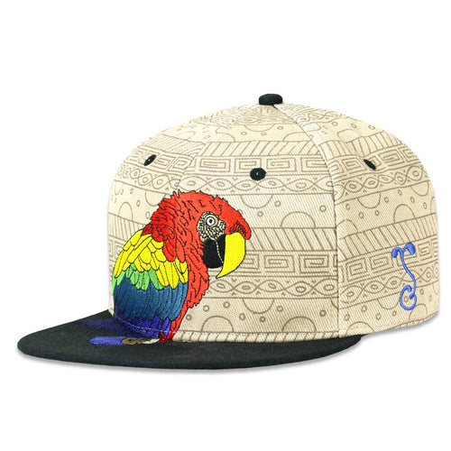 Macaw Tan Fitted Hat