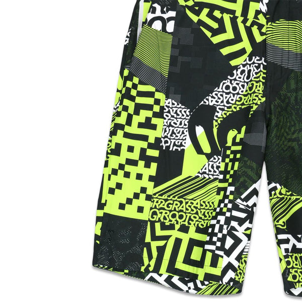 Neon Glitch Allover Hybrid Shorts