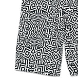 Neon Glitch Black White Hybrid Shorts
