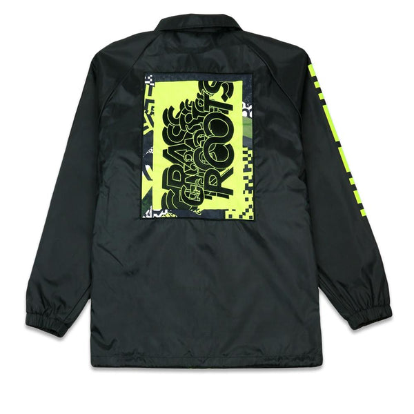 Neon Glitch Black Coaches Jacket
