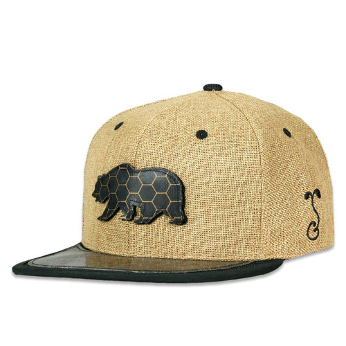BearSlick Removable Bear Tan Snapback Hat