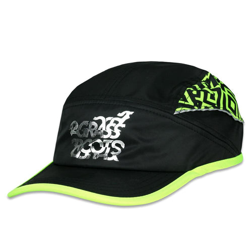 Neon Glitch Black 7 Panel Zipperback Hat
