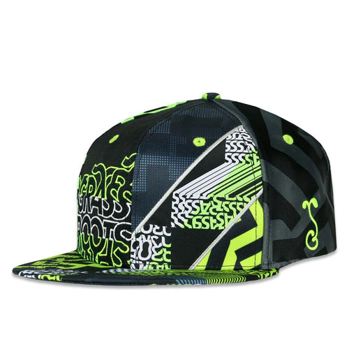 0bc1dca45b35d Neon Glitch Allover Snapback Hat