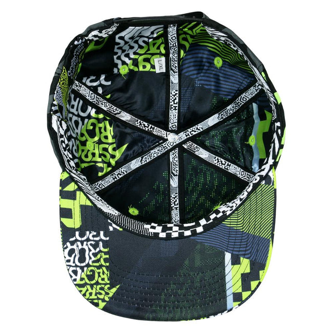 Neon Glitch Allover Snapback Hat