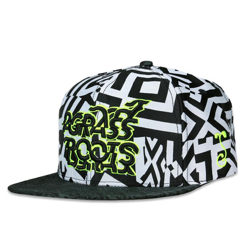 Neon Glitch Black White Snapback Hat