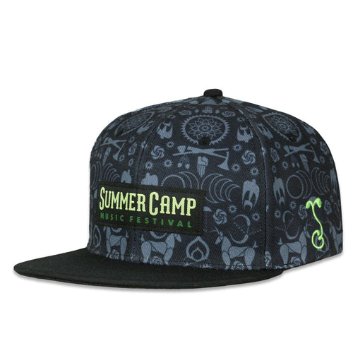 Summer Camp 2019 Black Snapback Hat