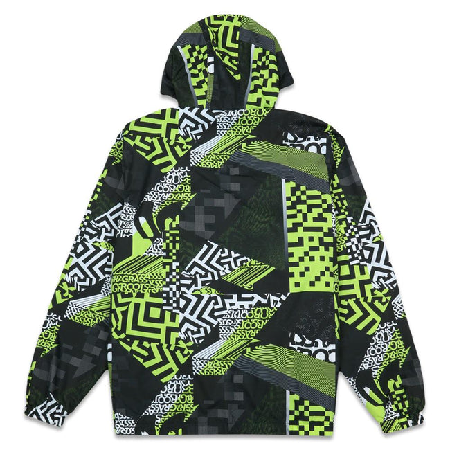 Neon Glitch Windbreaker Jacket