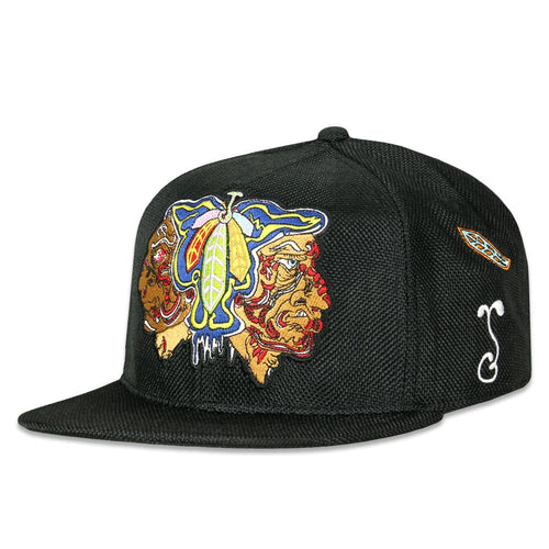 Melty Bros Hawks Feathers Black Fitted Hat