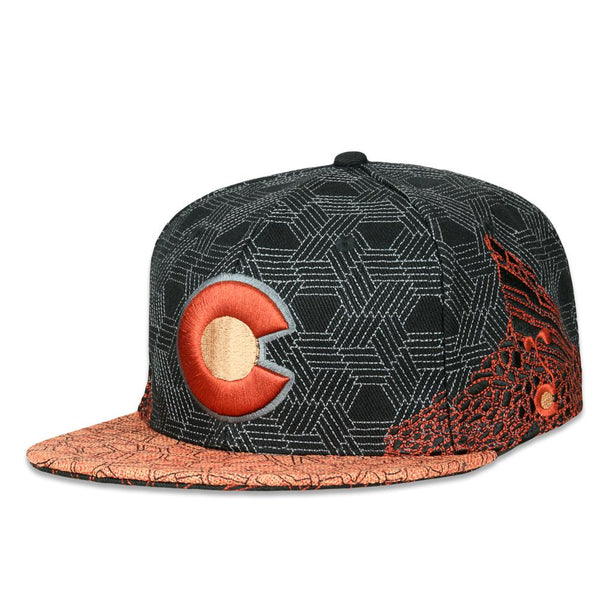 Red Rocks Black Fitted Hat