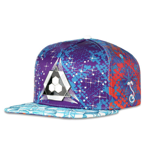 Celestial Serpent Purple Snapback Hat