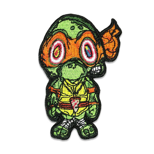 Vincent Gordon Turtles Orange Iron On Patch