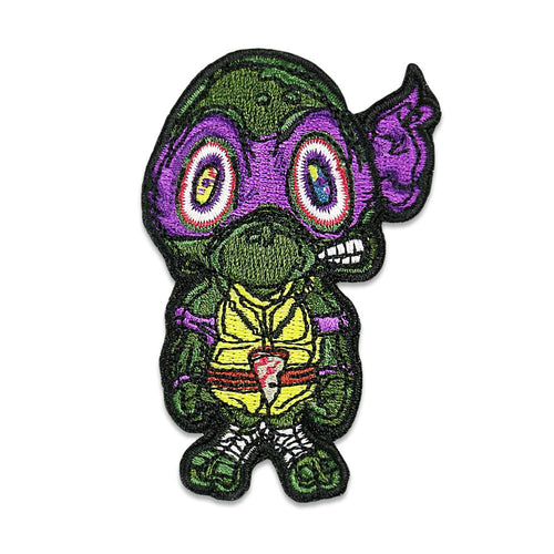 Vincent Gordon Turtles Purple Iron On Patch