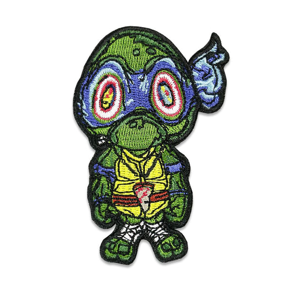 Vincent Gordon Turtles Blue Iron On Patch