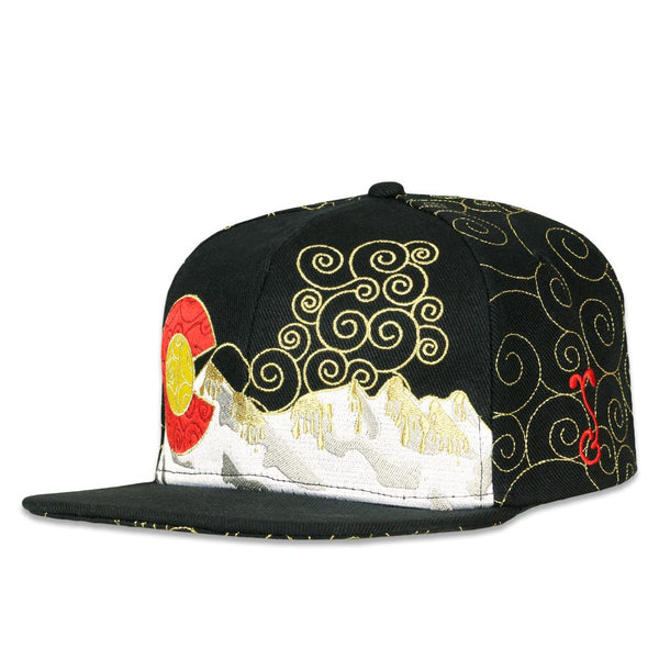 Dabroots Black Gold Snapback Hat