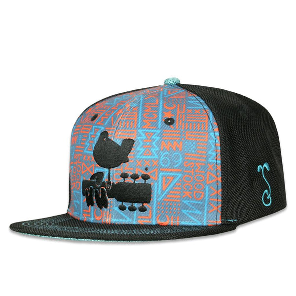 Woodstock New Native Black Snapback Hat
