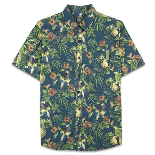 Greg Lutzka Ganja Bahama Navy Button Up Shirt