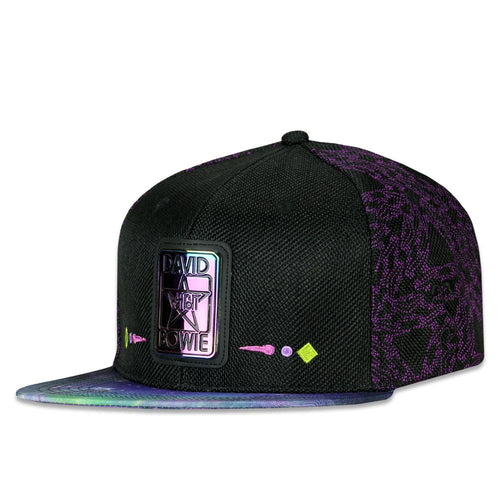 David Bowie Stars Purple Galaxy Snapback Hat