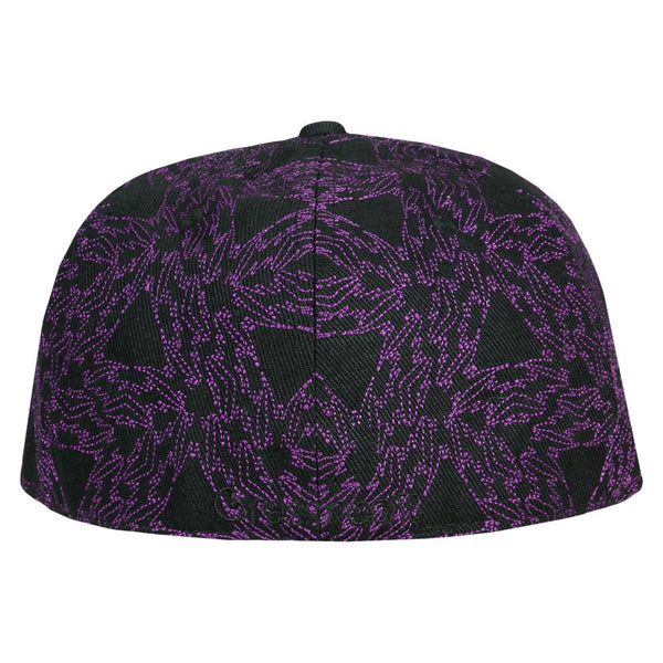 David Bowie Stars Purple Galaxy Fitted Hat