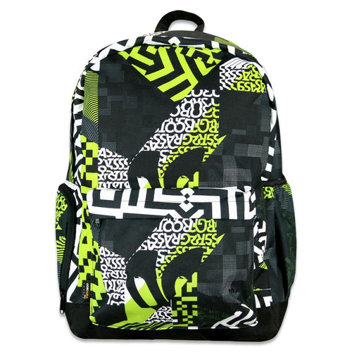 Neon Glitch Allover Backpack