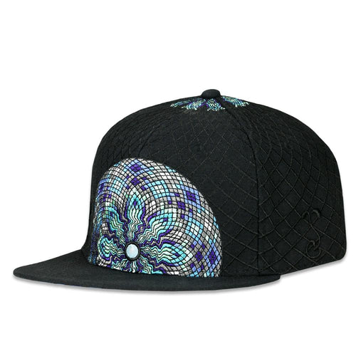 Adam Reetz Black Blue Fitted Hat