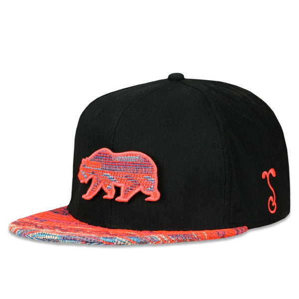 Removable Bear Neon Beach Fitted Hat