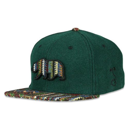 Removable Bear Cypress Forest Fitted Hat