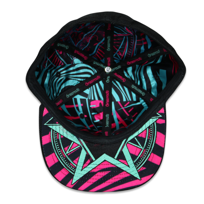 Secret Society V2 Green Pink Fitted Hat