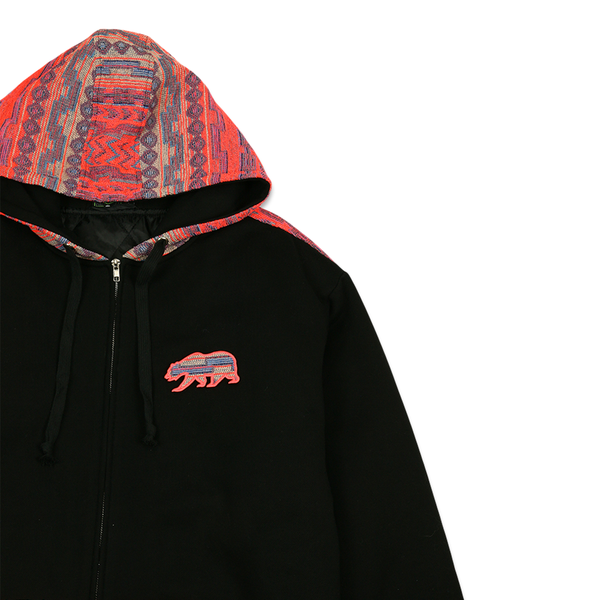Removable Bear Neon Beach Zip Up Hoodie
