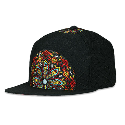 Adam Reetz Black Orange Strapback Hat