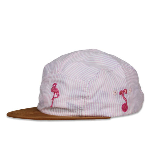 Slice Of Life Pink Flamingo 5 Panel Hat
