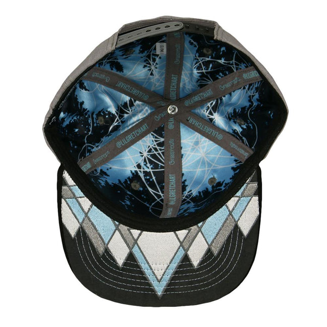 Geo Mountains Gray Snapback Hat