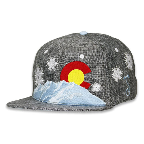 Frosty Leaf Gray Snapback Hat