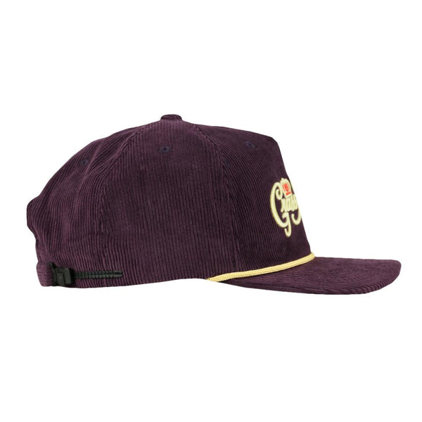 Royal Roots Purple Corduroy Zipperback Hat