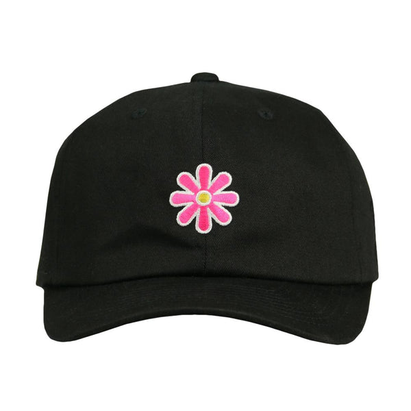 Woodstock Pink Flower Black Dad Hat