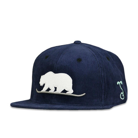 Removable Bear Tech Tie Dye Blue Snapback Hat
