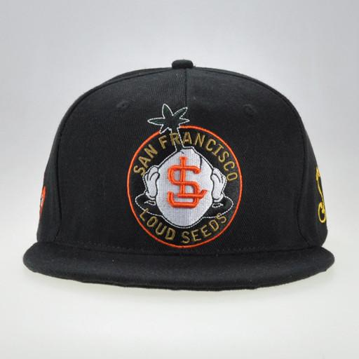 Loud Seeds Black Orange Snapback