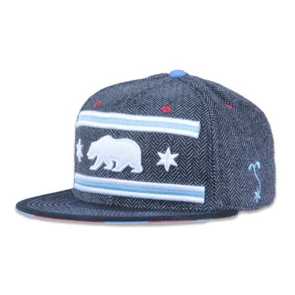 Chi Bear Gray Tweed Snapback - Grassroots California