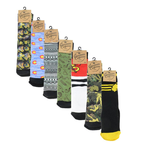 Sock Combo Pack - 3 Pairs - Grassroots California
