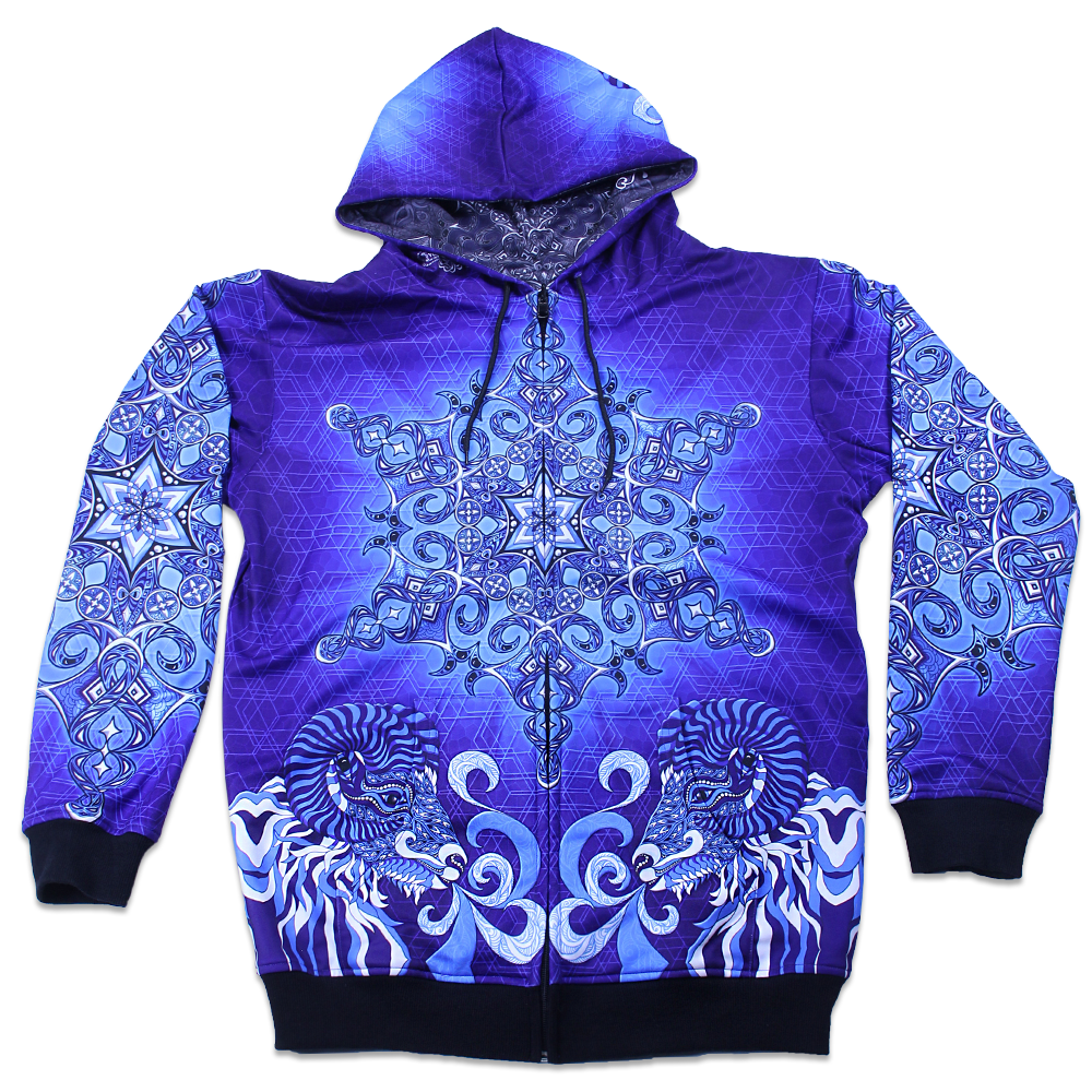 Phil Lewis Snowflake Reversible Zip Up Hoodie