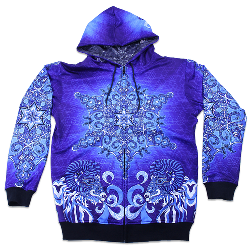 Phil Lewis Snowflake Reversible Zip Up Hoodie - Grassroots California - 1