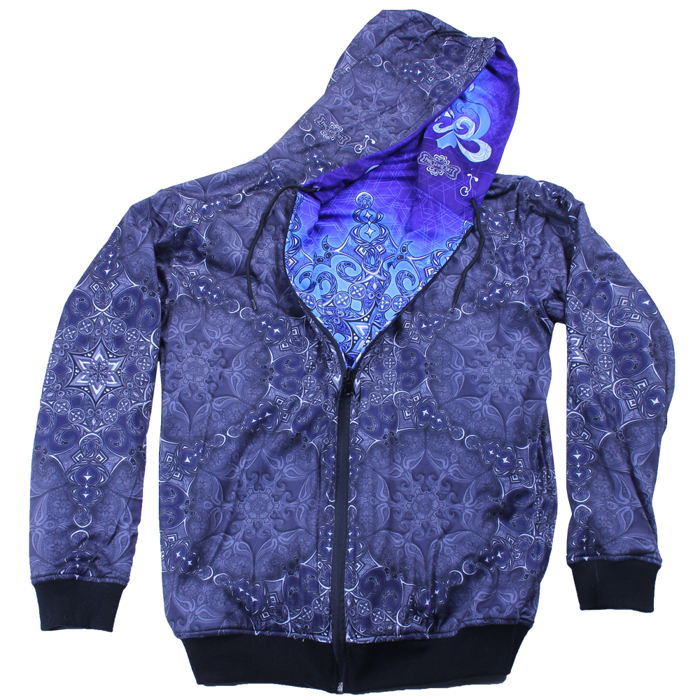 Phil Lewis Snowflake Reversible Zip Up Hoodie - Grassroots California - 9