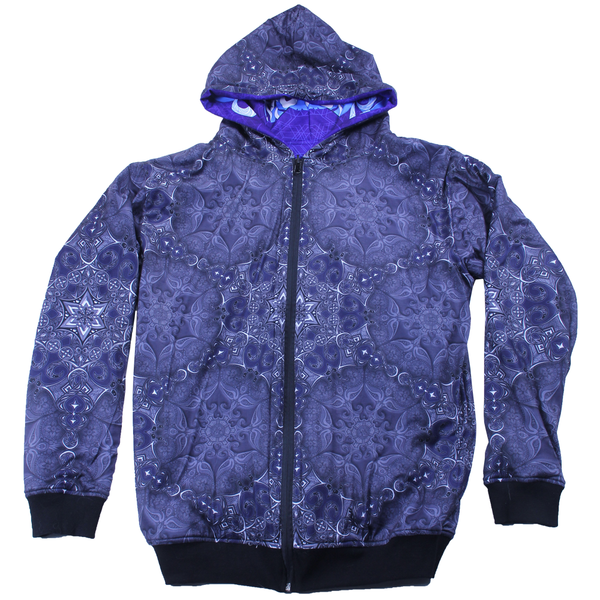Phil Lewis Snowflake Reversible Zip Up Hoodie - Grassroots California - 2