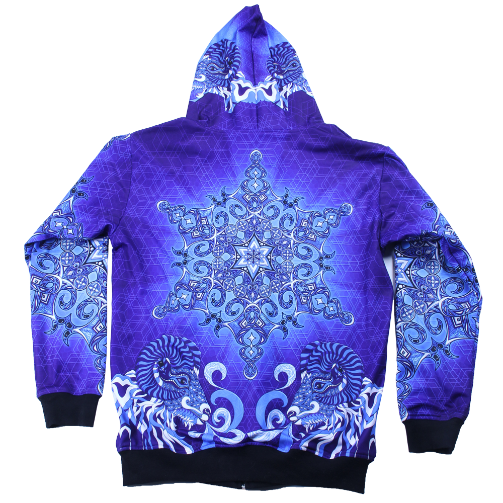 Phil Lewis Snowflake Reversible Zip Up Hoodie - Grassroots California - 3