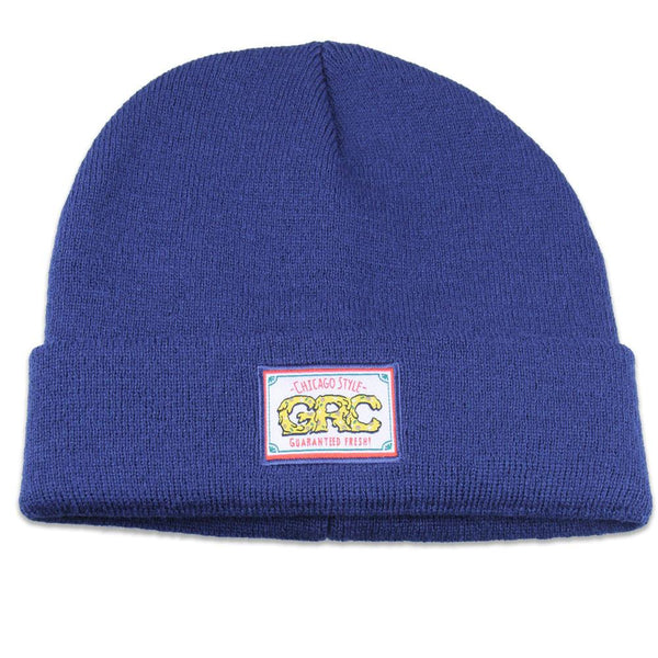 GRC Chicago Style Pizza Navy Beanie - Grassroots California - 1