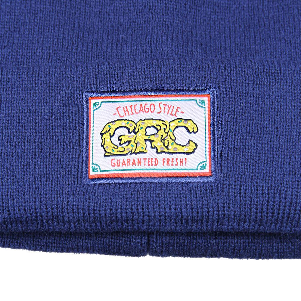 GRC Chicago Style Pizza Navy Beanie - Grassroots California - 3
