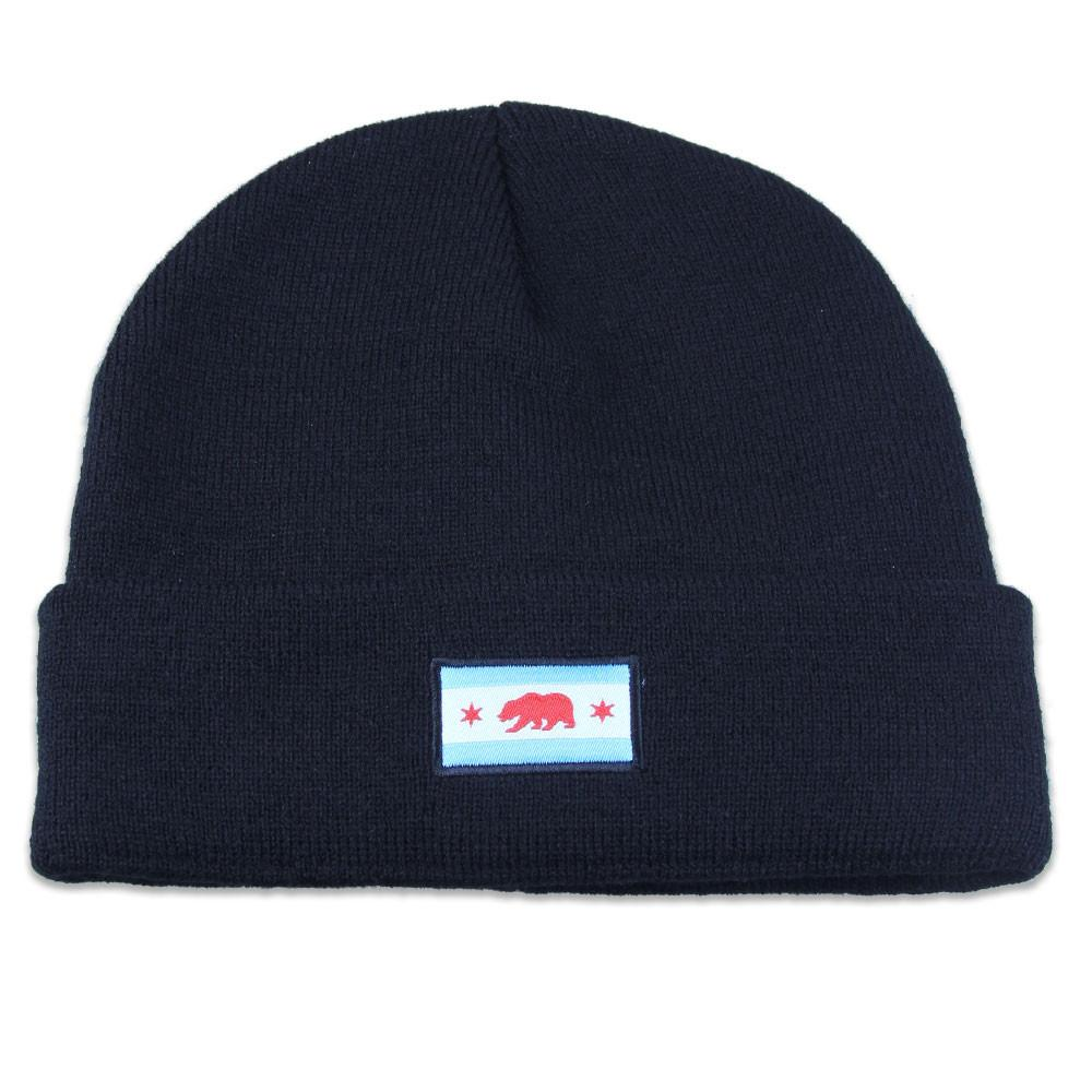 Chicago Bear Flag Black Beanie