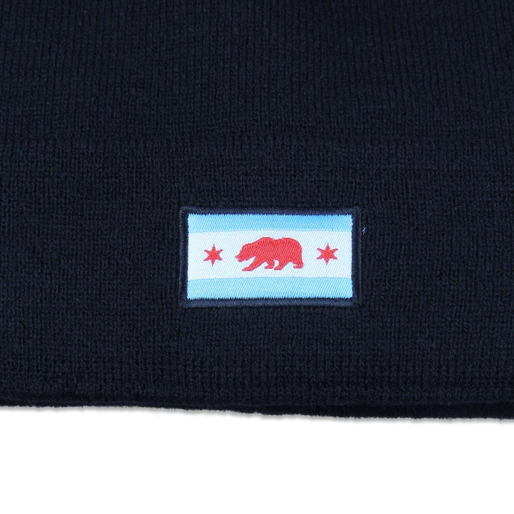 Chicago Bear Black Beanie - Grassroots California - 3