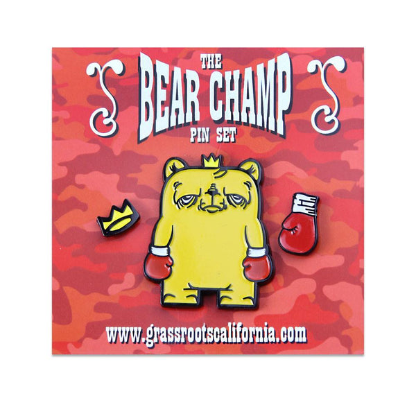 JC Rivera Bear Champ Pin Pack - Grassroots California - 1