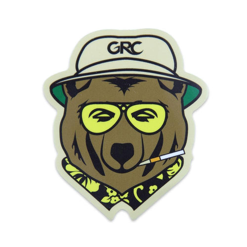 GRC Die Cut Vegas Bear Sticker - Grassroots California
