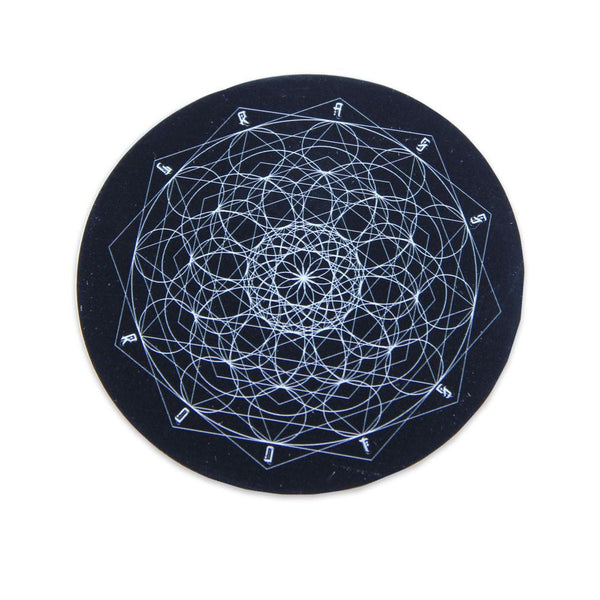 GRC Geometric Mandala Round Black Sticker - Grassroots California